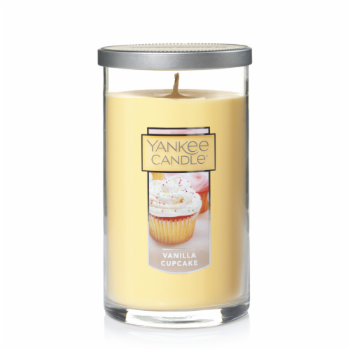 Yankee Candle Vanilla Cupcake Pillar Candle - Cream Perspective: front