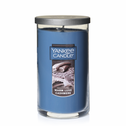 Yankee Candle Warm Luxe Cashmere Pillar Candle Perspective: front