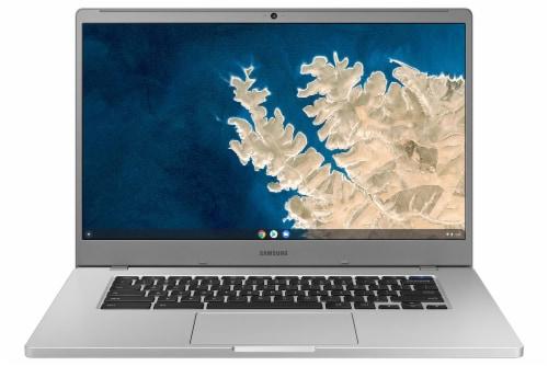 Samsung Chromebook 4+ Laptop - Platinum Titan Perspective: front