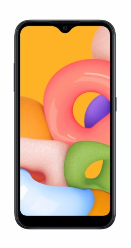 Samsung Galaxy A01 Cellphone Perspective: front