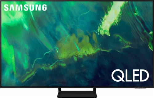 Samsung Q70A Black 4K QLED 55 Inch Smart Television Perspective: front