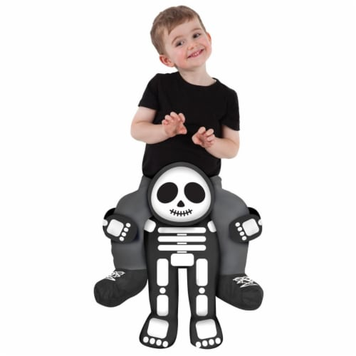 Morris Costumes MHPBTSK 2 ft. 6 in. to 3 ft. 11 in. Toddler Skeleton Piggyback Costume Perspective: front