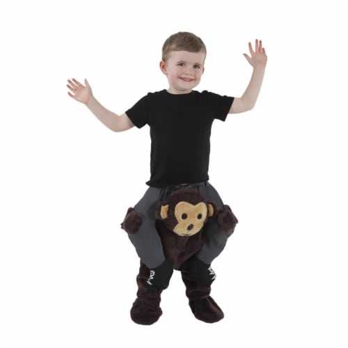 Morris Costumes MHPBTMO 2 ft. 6 in. to 3 ft. 11 in. Toddler Monkey Piggyback Costume Perspective: front