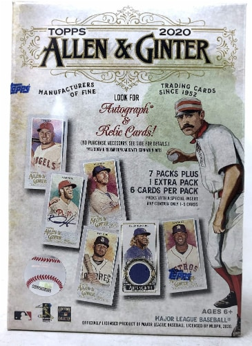Topps 2020 Allen and Ginter Value Box Perspective: front