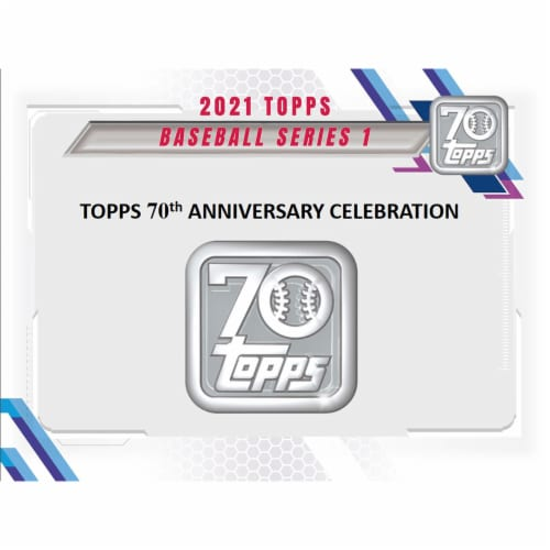 2021 TOPPS SERIES 1 BASEBALL RELIC BOX Perspective: front