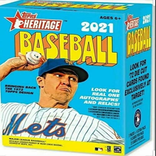 2021 Topps Heritage Baseball Value Box Perspective: front