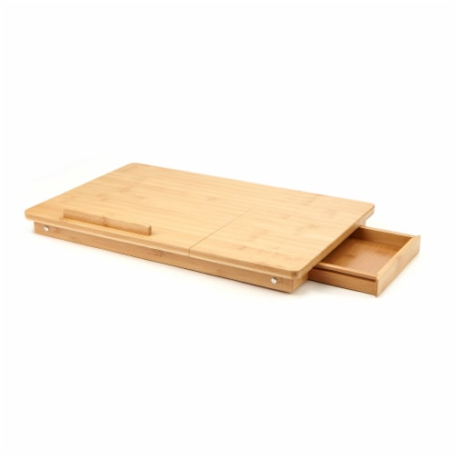 Mind Reader Bamboo Multi-Functional Lap Desk Perspective: front