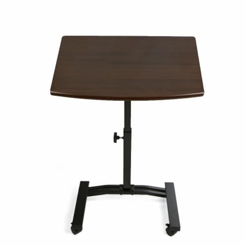 Mind Reader Adjustable Standing and Sitting Laptop Cart Perspective: front