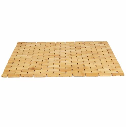 Mind Reader Bamboo Mildew Resistant Bath Mat Perspective: front