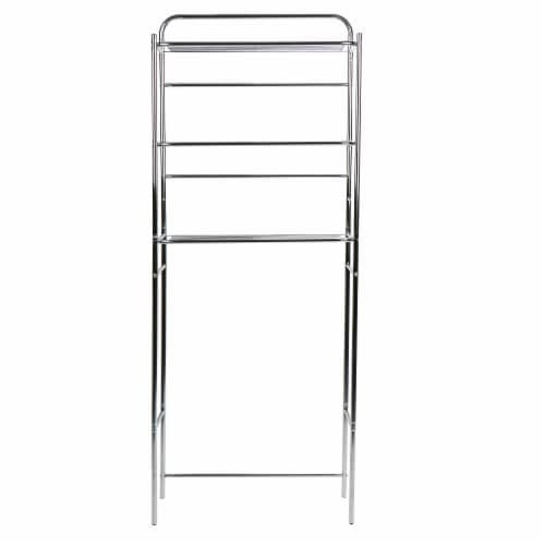 Mind Reader 3-Tier Over the Toilet Rack - Silver Perspective: front