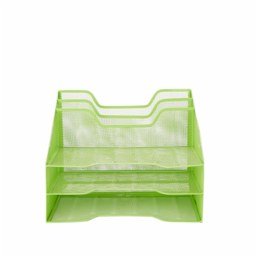 Mind Reader 5 Compartments Desk Organizer Tray - Green Perspective: front