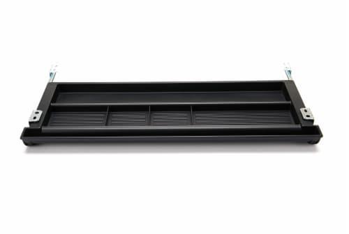 Mind Reader Under Desk Adjustable Keyboard Organizer - Black Perspective: front