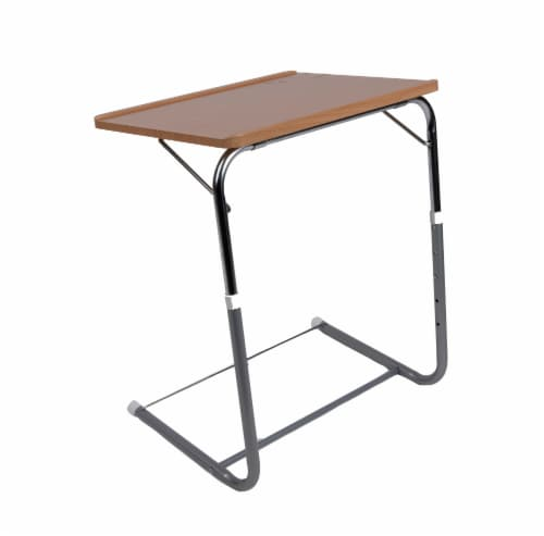 Mind Reader Adjustable Height Folding Laptop TV Tray - Brown Perspective: front