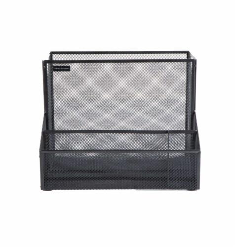 Mind Reader Metal Mesh Large File Organizer Storage Basket - Black Perspective: front