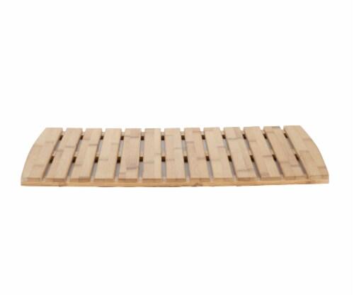 Mind Reader Bamboo Shower Bath Mat Perspective: front