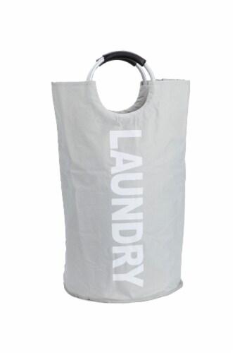 Mind Reader 82 Liter Large Laundry Hamper Basket - Grey Perspective: front