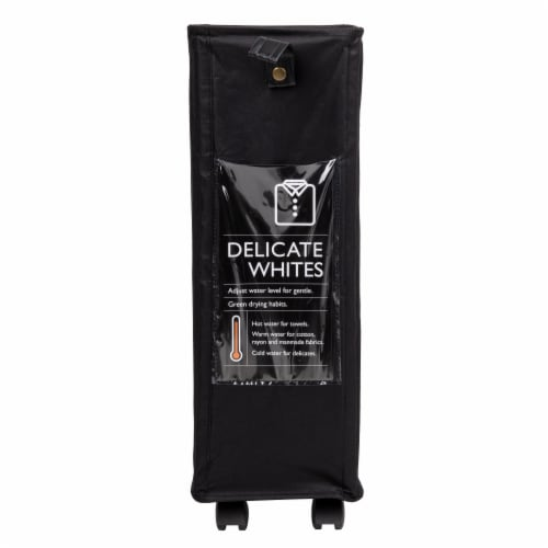 Mind Reader Slim Rolling Laundry Hamper With Wheels - Black Perspective: front