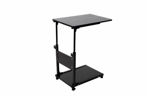 Mind Reader Adjustable Height Portable Laptop Desk Table - Black Perspective: front
