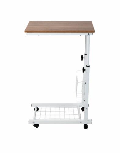 Mind Reader Adjustable Height Laptop Desk - Brown/White Perspective: front