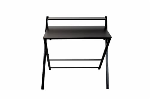 Mind Reader Folding Office Table and Portable Desk - Black Perspective: front