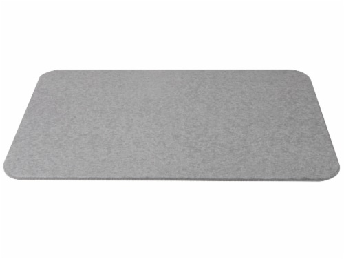 Mind Reader Diatomite Fast Drying Bath Mat - Gray Perspective: front