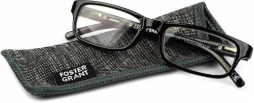 Foster Grant Brandon +2.50 Reading Glasses - Black Perspective: front