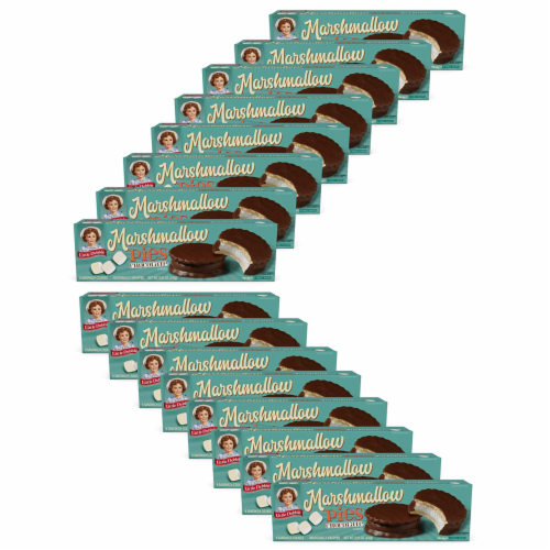 Chocolate Marshmallow Pies, 16 Boxes, 128 Individually Wrapped Chocolate Creme Pies Perspective: front
