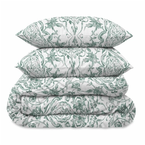 Martha Stewart Gabrielle Damask Comforter Set - 3 Piece Perspective: front