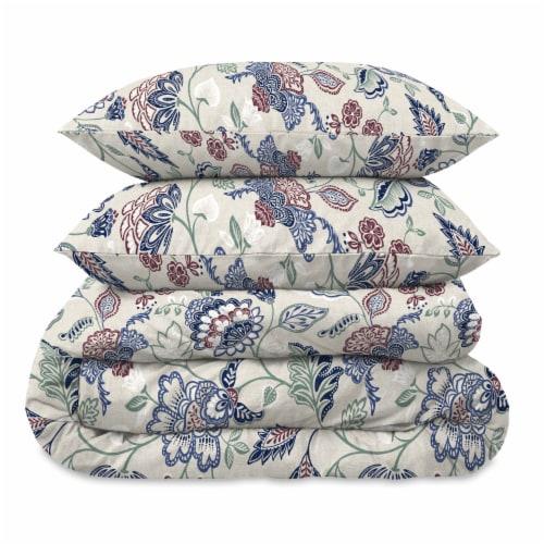 Martha Stewart Amara Jacobean Comforter Set - 3 Piece Perspective: front
