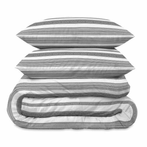 Martha Stewart Balboa Stripe Comforter Set - 3 Piece Perspective: front