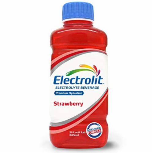 Electrolit Strawberry Premium Hydration Electrolyte Beverage Perspective: front