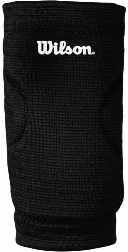 Wilson Profile Junior Volleyball Knee Pads - Black Perspective: front