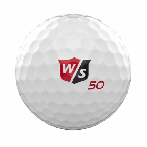 Wilson Staff Fifty Elite Golf Ball - White Perspective: front