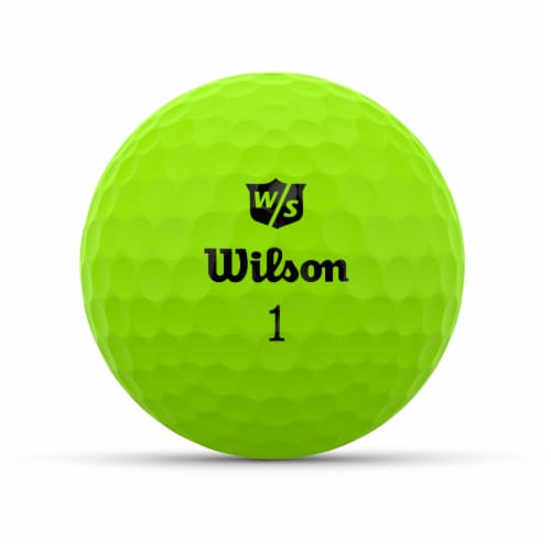 Wilson DUO Optix Golf Ball - Green Perspective: front