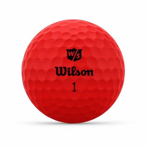 Wilson DUO Optix Golf Ball - Red Perspective: front