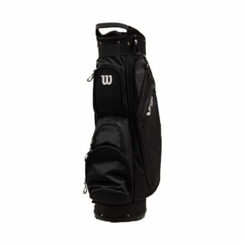 Wilson WGB4710BL Velocity HDX Cart Bag w/ Shoulder Strap & 14 Dividers, Black Perspective: front