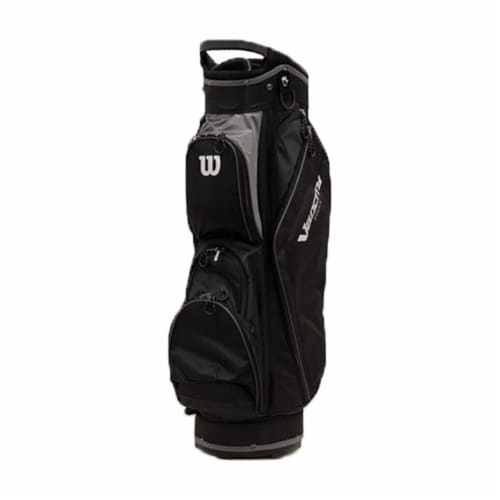 Wilson WGB4710GY Velocity HDX Cart Bag w/ Shoulder Strap & 14 Dividers, Gray Perspective: front