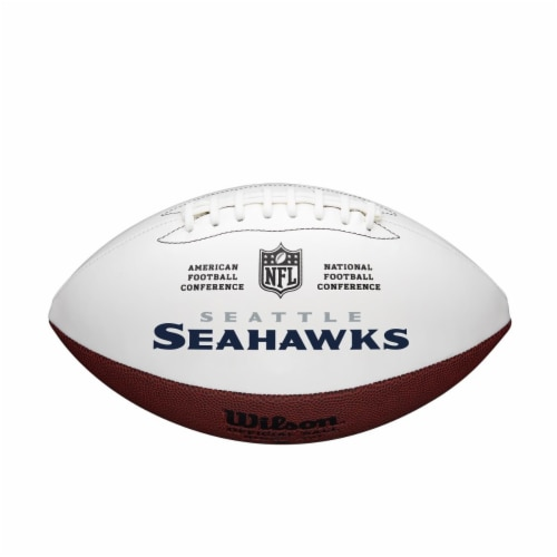 Wilson 8776895672 Full Size Autographable Seattle Seahawks Football Perspective: front
