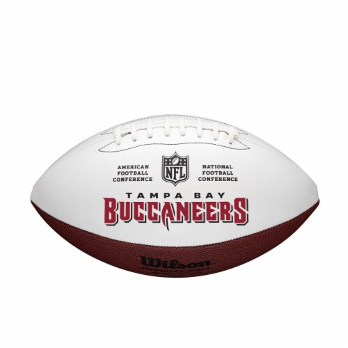 Wilson 8776895673 Full Size Autographable Tampa Bay Buccaneers Football Perspective: front