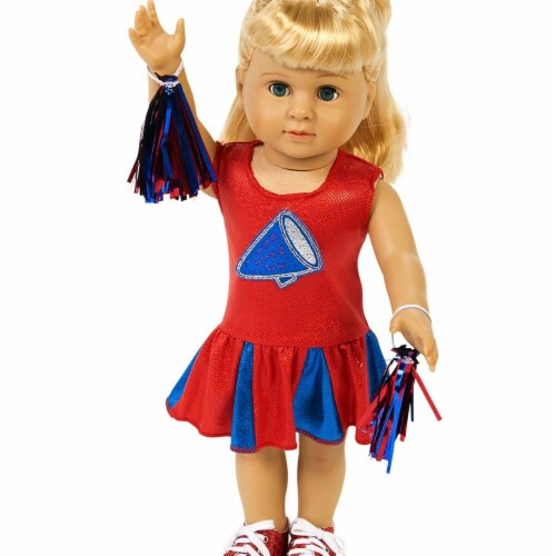 Partytime 248192 Cheer Team 18 in. Doll Costume - 18 in. Perspective: front