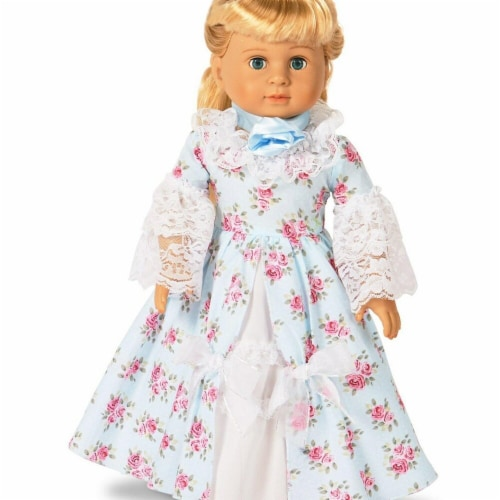Partytime 248205 Fancy Early American 18 in. Doll Dress - Small Perspective: front