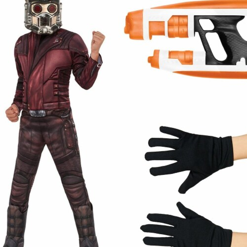 Rubies Costumes 270355 Guardians of the Galaxy Volume 2 Star-Lord Deluxe Childrens Costume Ki Perspective: front