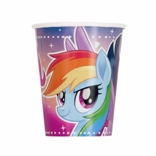 Unique 265004 9 oz My Little Pony Flying Ponies Paper Cup - Pack of 16 Perspective: front