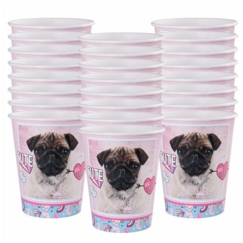 BuySeasons 265031 9 oz Rachael Hale Dog Love Paper Cups - 24 Piece Perspective: front