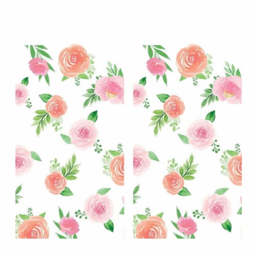BirthdayExpress 305165 Floral Baby Paper Tablecovers - 2 Piece Perspective: front