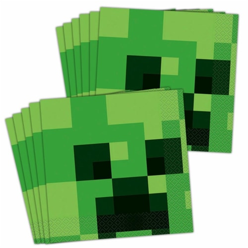 Minecraft 309244 Lunch Napkin - 48 Piece Perspective: front