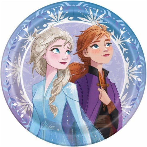 Birth9999 642279 Frozen 2 Lunch Plate - Pack of 48 Perspective: front