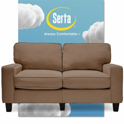 Serta RTA Palisades Collection 61  Loveseat in Fawn Tan Perspective: front