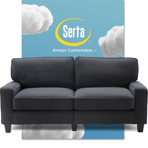 Serta Palisades 73  Sofa in Charcoal Perspective: front