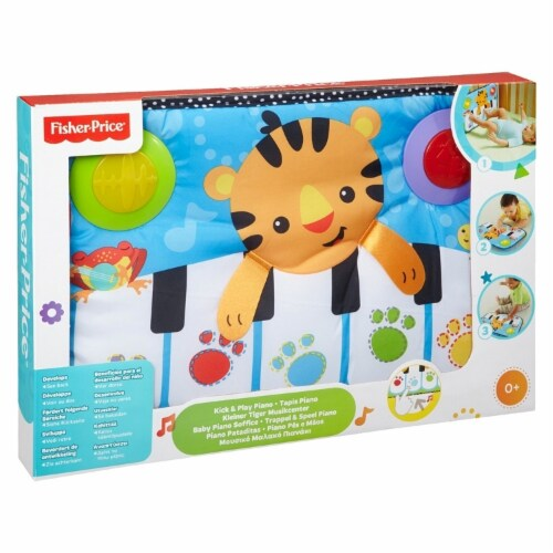 Fisher-Price Kick & Play Piano Baby Toy Perspective: front